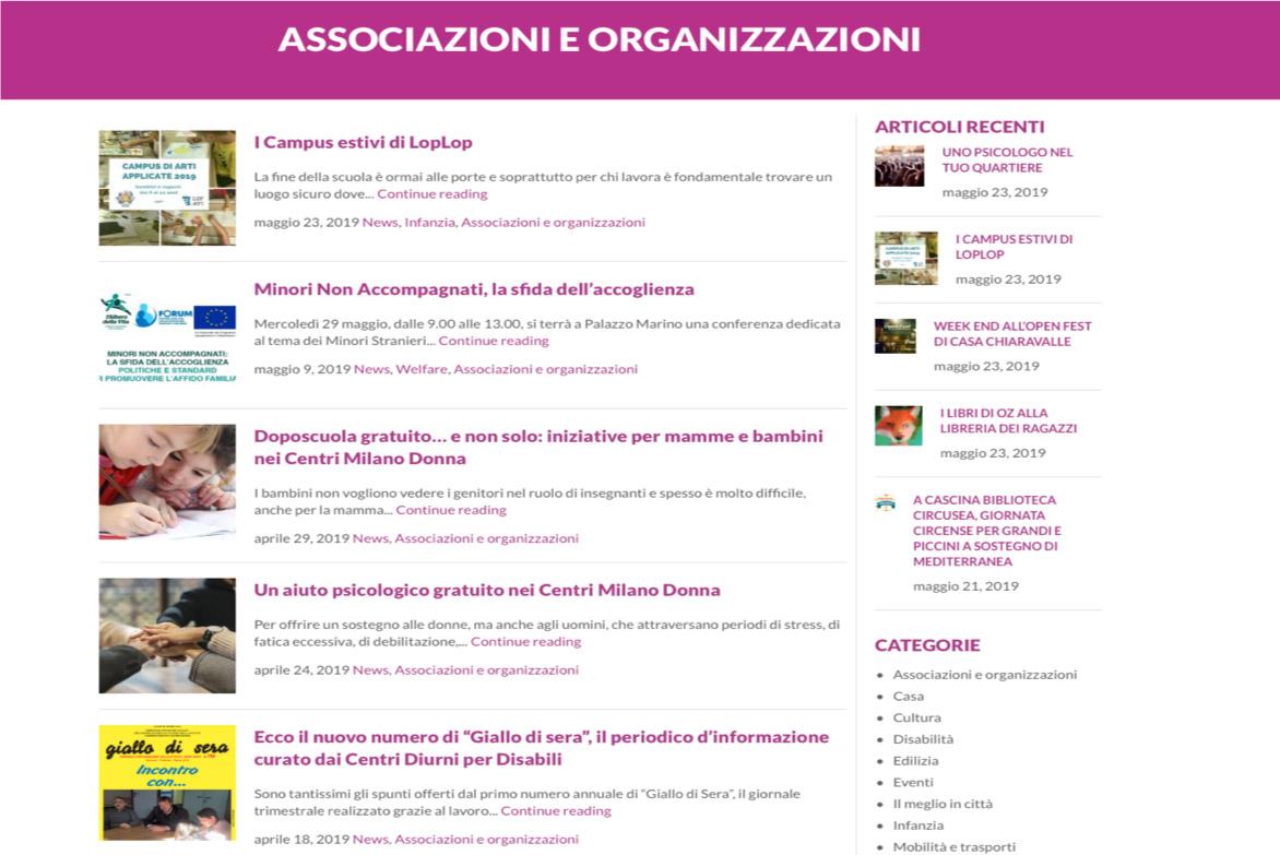 Associazioni e Organizzazioni