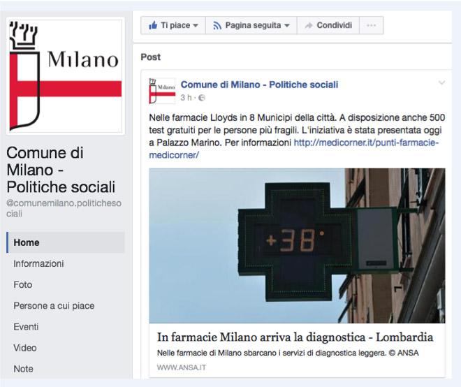 Comune di Milano Politiche Sociali