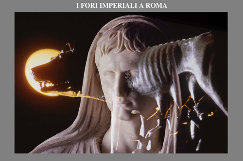 Permanent artistic lighting project of the Fori Imperiali