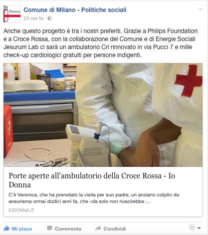 Facebook Comune di Milano Politiche Sociali-13-02-2017